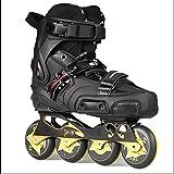 Men And Women Online Skates Shoes Fancy Straight Row Roller Skate Shoes Adult Black, 42, black