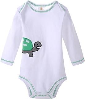 Dooxi Unisex Baby Junge Mädchen Langarm Strampler Overall Gedruckt Spielanzug Bodysuit Baby Geschenkset
