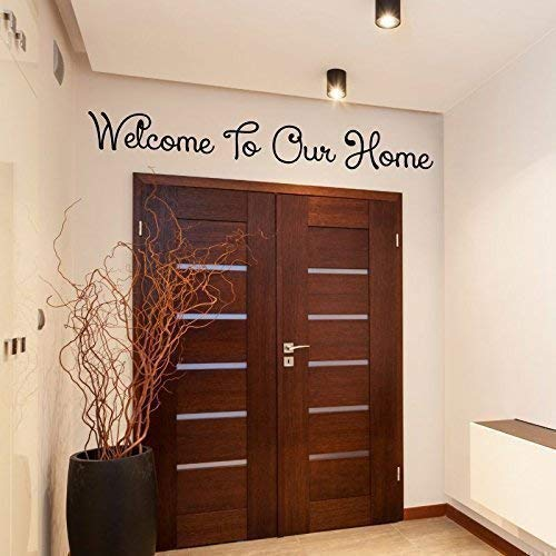 Welcome To Our Home - Sticker Boston Mall Wall Family Gorgeous Decal