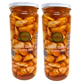 Sanniti Garlic Cloves in Oil with Chili, 15.7 oz (Pack of 2)