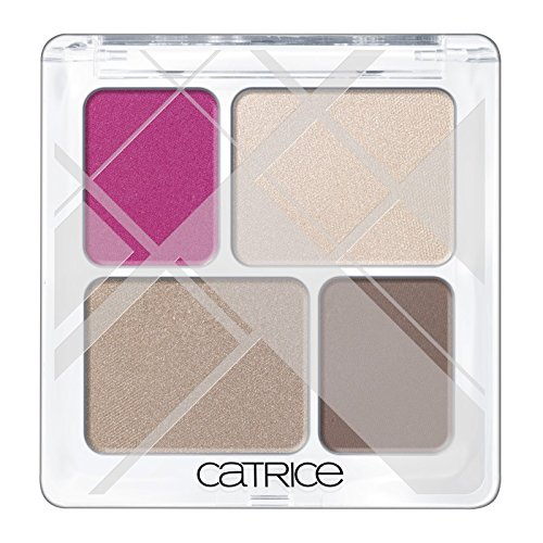 Catrice Cosmetics Edition limitada Graphic Grace paleta 4sombras de ojos (N ° C01Linear Lines (fucsia, marrón), 8G, 0.26oz.