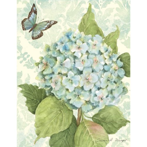 Lang Blue Hydrangea Boxed Notecard by Susan Winget, 4 x 5 Inches, 13 Cards and Envelopes (1005295)