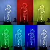 Lámpara 3D Figura de acción Hunter X Hunter Gon Freecss Runing LED NightLight 7 colores Touch Table Decor Night Light Gift Model