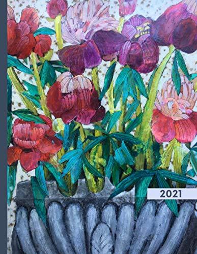 Blumenkalender 2021 - Motiv Pfingstrosen: Terminplaner und Wochenkalender, Jahresplaner, handlicher Taschenkalender 2021 mit Wochenübersicht und Blumenmotiv