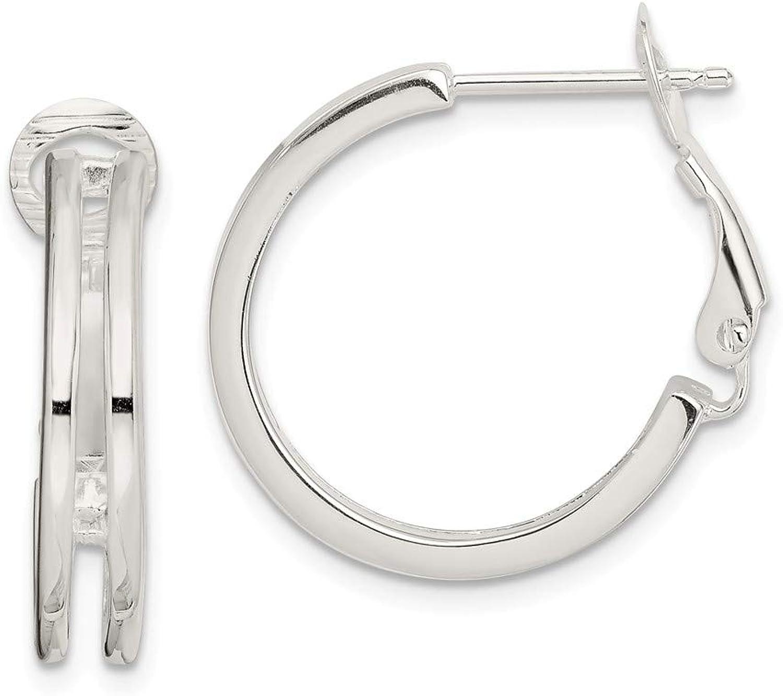Beautiful Sterling silver 925 sterling Sterling Silver Polished Earrings