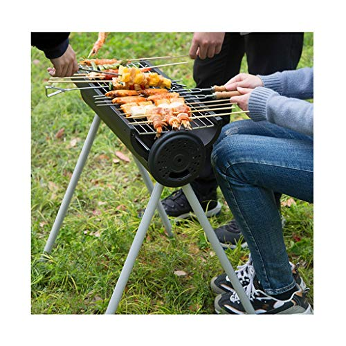 Kitchen Barbecue Racks Mini Bbq Outdoor Round Barbecue Household Charcoal Barbecue Tools Convenient For Travel Suitable For 5-8 People Removable Legs Gift (Color : Black, Size : 60 * 20.5 * 65cm)
