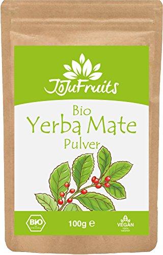 JoJu Fruits - Bio Yerba Mate Pulver (100g) - 100% Natürlich aus gemahlenen Mate Blättern