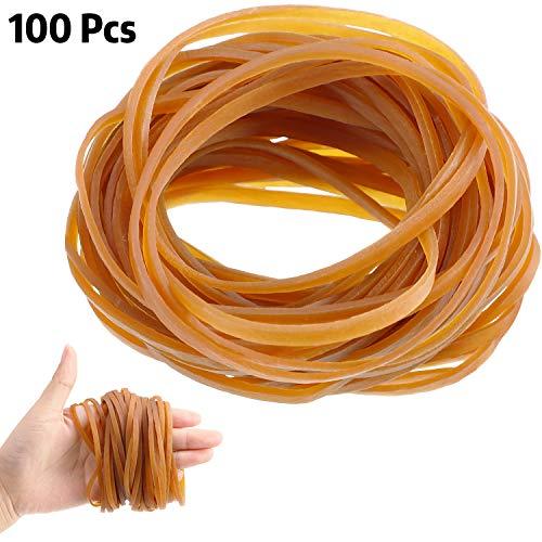 100 Stück Gummibänder Elastische Mülleimer Bänder Büro Aktenordner Starke Elastische Gummibänder für Schule Heim Büro Zubehör(4 x 0.12 Zoll)