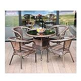 Conjunto de muebles de patio y silla de mimbre Rat Muebles de patio Muebles de jardín Liquidación...