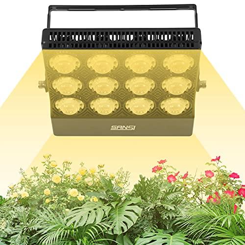 SANSI 70W Pflanzenlampe Vollspektrum LED Grow Lampe für Zimmerpflanzen Pflanzenlicht Grow Light für Sukkulenten Wachstum Sämling Gemüse und Blumengarten, Sonnenlicht weiß, IP66