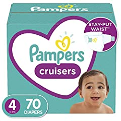 Recommended Weight: 22 to 37 Pounds; Pampers cruisers gives your active baby the ultimate fit and protection, so they can play freely Stay put waist has ultra strong grips and soft, stretchy sides for a secure fit that comforts skin no matter how the...