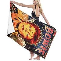 David Bowie デヴィッド・ボウイ バスタオル Bath Towel 男女兼用 マイクロファイバー ふわふわ 抜群の肌触り なめらかな触り心地 吸水抜群 抗菌防臭 水泳 浴用 大判 人気
