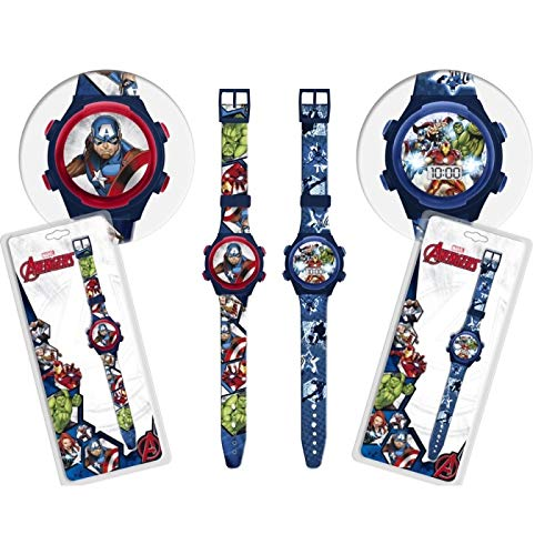 Star  Marvel Avengers Orologio da Polso Digitale, Diametro 23 cm, 2 Colori Assortiti