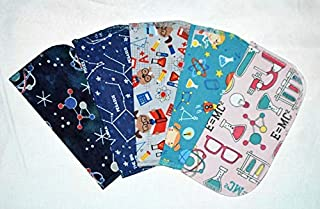 1 Ply World Of Science Flannel Washable Kids Lunchbox Napkins 8x8 inches 5 Pack - Little Wipes (R) Flannel