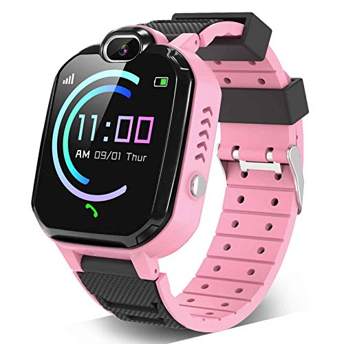 Kids Smartwatch for Boys Girls – Smart Watch for Kids with Phone Calls 7 Games Mp3 Music Player Camera SOS Phone Watch for 4-12 Years Old Students Children Christmas Birthday Gift (Pink)
