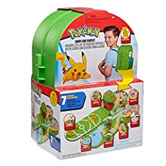 "Features many different locations and tons of features hidden in every area of the Playset! Includes one 2"" Pikachu figure! Easily folds into a backpack! The perfect toy for any Pokémon fan! An Officially licensed Pokémon product from Wicked Cool Toy..."