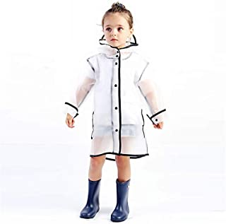 3-6 Year Old Children's Transparent Raincoat, Cute Cartoon Raincoat For Children, Outdoor Sports Raincoat, Lightweight Boy And Girl Raincoat (Color : Clear, Size : L)