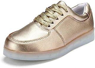 KHFJ Calzature da UomoUnisex USB LED Light Lace Up Coppia Luminosa Scarpe Sportswear Sneaker Scarpe Casualcorrere