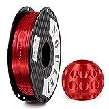 Noulei Shiny PLA Filament 1.75mm Silk Red, 3d Drucker printer Filament PLA 500g Spool