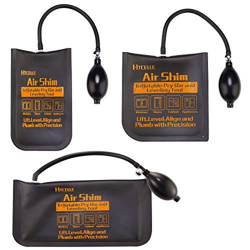 HTCELLE 3 piezas de bomba de aire de grado comercial fuerte bomba de nivelación profesional y herramienta de alineación bolsa inflable para una variedad de trabajos, tamaños pequeños/medianos/grandes
