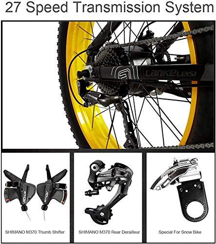 518cPkOJF0L - JINHH 27-Fach klappbares elektrisches Fahrrad mit 1000 W 26 * 4,0 Fat Bike 5 PAS Hydraulische Scheibenbremse 48 V 10 Ah Abnehmbare Lithiumbatterieladung (gelber Standard, 1000 W + 1 Sp. Z oo)