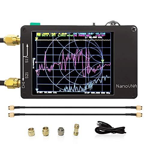 Slickbox für Nanovna-Vektornetzwerkanalysator Kurzwelle MF HF VHF UHF UV VNA-Digitalanzeige-Touchscreen-Antennenanalysator 50 kHz-900 MHz, Messung der S-Parameter, Spannungs-Stehwellenverhältnis