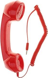 MagiDeal Simple-Fashion Designed 3.5mm Handset Retro Phone Handset Mic Speaker Phone Call Receiver - Red