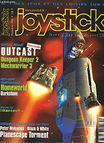 Joystick N°106 : Outcast, Dungeon Keeper 2, Mechwarrior 3 - Homeworld, Darkstone ... Accompagné de 2 CD-ROM