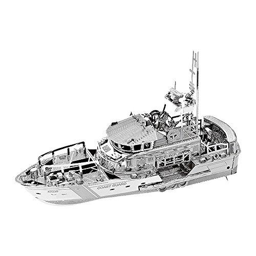 MTU 3D Metall Puzzle Rettungsboot Lifeboat Modell DIY 3D Laserschnitt Modell-Bausatz Spielzeug