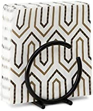 Kundi Modern Decorative Paper Napkin Holder for Kitchen Countertops, Dinner Tables, Picnic Tables - Indoor & Outdoor Use, Storage and Organization for Multiple Sizes - Durable