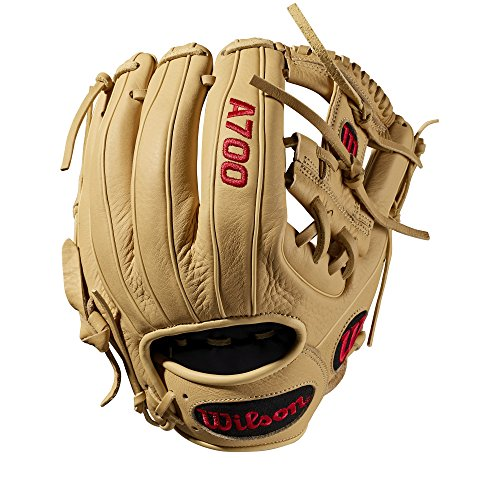 Wilson A700 Baseball Glove Series, Blonde, 11.5 Inch, Left (Right Hand Throw)