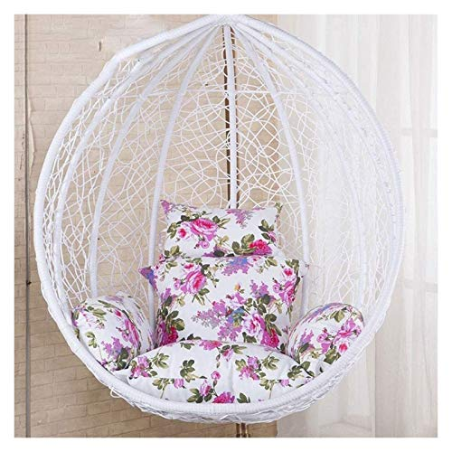LLNN Home Decoration Swing Chair Cushion Egg Hammock Chair Pads, Hanging Rattan Swing Chair Cushion Pads with Armrest Outdoor/Indoor Garden Patio Furniture Hanging Basket Furniture Cushion