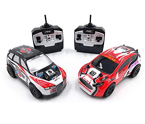 JUGUETECNIC │ Pack de 2 mini coches teledirigidos rally extreme │ Pequeños, rápidos y ágiles | Coches Control Remoto Regalo Juguetes │ Escala 1:28
