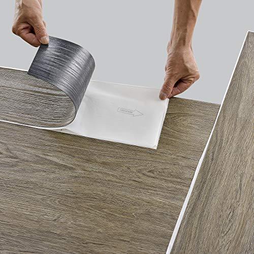 neu.holz Bodenbelag Selbstklebend ca. 1 m² 'Canadian Oak' Vinyl Laminat 7 rutschfeste Dekor-Dielen für Fußbodenheizung