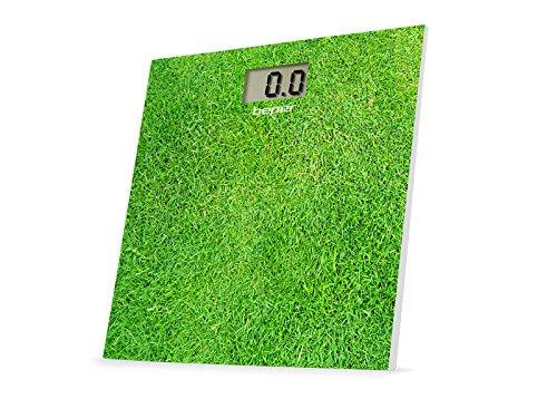 BEPER 40.810F3 Bilancia Pesapersona Elettronica Fantasia3 Báscula de baño, diseño césped, Verde