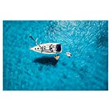 artboxONE Poster 150x100 cm Natur Floating Pizza