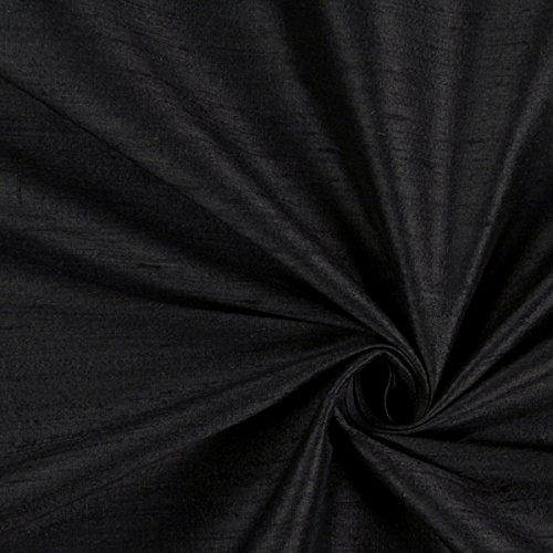 Dupionseide Schimmer – schwarz — Meterware ab 0,5m — zum Nähen von Kissen/Tagesdecken, Abendkleidung & Kleider