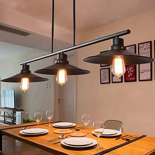 Meters Lámpara de Restaurante de araña de Viento Industrial Retro Lámpara de Mesa de Billar Creative 3 candelabros