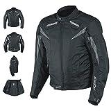 A-Pro Motorradjacke CE Protektoren Sport Textil Motorrad Thermofutter Schwarz M