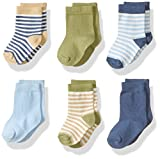 Organic cotton, polyester and spandex blend Stretchable for better fit Super soft and comfortable Set includes coordinated socks Affordable, high quality set