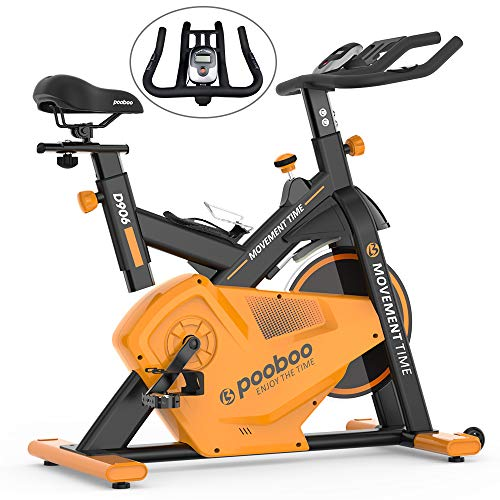 Buy Cheap pooboo Exercise Bike Indoor Cycling Bike, 22lbs Flywheel Belt Drive Exercise Bicycle with ...
