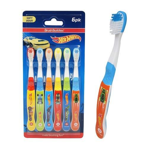 Hot Wheels Soft Toothbrush 6pk
