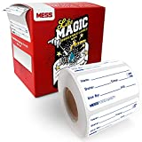 MESS Dissolvable Food Labels - Dissolves in Water Like Magic in 25 Seconds - Essential Canning Supplies, Kitchen Freezer Labels, Meal Prep, and More (500 Per Roll) 1x2'
