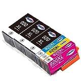 Paeolos 920XL Cartuchos de Tinta Compatible para HP 920 920XL para HP Officejet 6500 A 6500 7500A 7500 E910 6000 7000 6500A Negro/Cian/Magenta/Amarillo