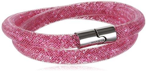Bracciale Swarovski modello Stardust doppio colore Rosa con chiusura magnetica palladiata misura M media 40 centimetri 5120152