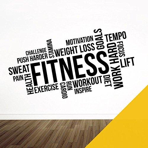 Wandaufkleber für Fitnessstudio, Fitness, Training, Cardio, Fokus, Ziele XXXXLarge (2350 x 1150mm) sonnenblume