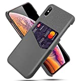 for iPhone Xs Max XR X XS 7 8 Plus Card Slots Case PU Leather Business Case for iPhone 7 8 6 6S Plus X XS Card Slots Hard Cover (Gray,for iPhone 7 Plus) -  Young