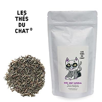 Earl grey imperial - Thé noir parfumé à la bergamote. LES THÉS DU CHAT®.
