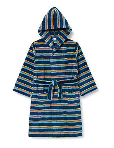 Sanetta Jungen Bademantel blau, Blue Teal, 140