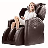 OOTORI Full Body Massage Chair, Zero Gravity Airbags Shiatsu Massage Chairs Recliner with Lower Back Heat and Foot Rollers(Brown)